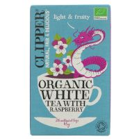 Clipper Organic White Tea with Raspberry 6 x 26 Bags